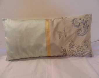Designers Guild Fabric Silk Embroidery Emmeline Duck egg 2 Cushion Cover