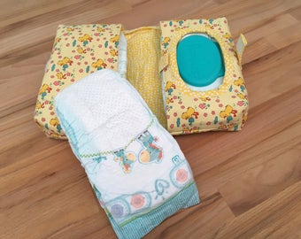 Yellow Ducky Baby Wipe & Nappy/Diaper CarryAll