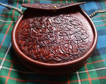 Stunning Hand Crafted Celtic Knot Scottish Sporran.