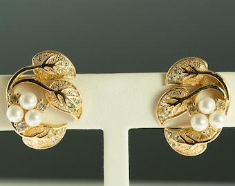 Christian Dior Leaf Costume Earrings