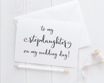 To My Stepdaughter Card. Stepdaughter Card. Stepdaughter Wedding Card. Wedding Card For Stepdaughter. To My Stepdaughter On My Wedding Day.