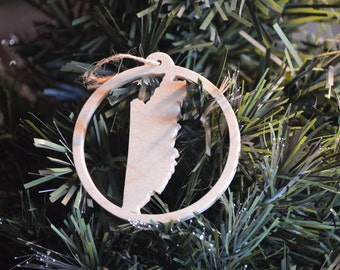 Belize Wooden Christmas Tree Ornament