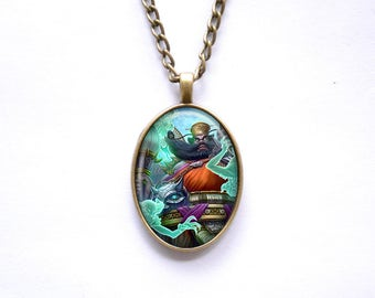 Necklace Smite Chinese god Zhong Kui The Demon Queller