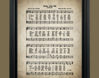 Abide With Me Hymn - Hymnal Sheet - Sheet Music- Home Decor - Inspirational Art - Gift - Instant Download - #HYMN-040