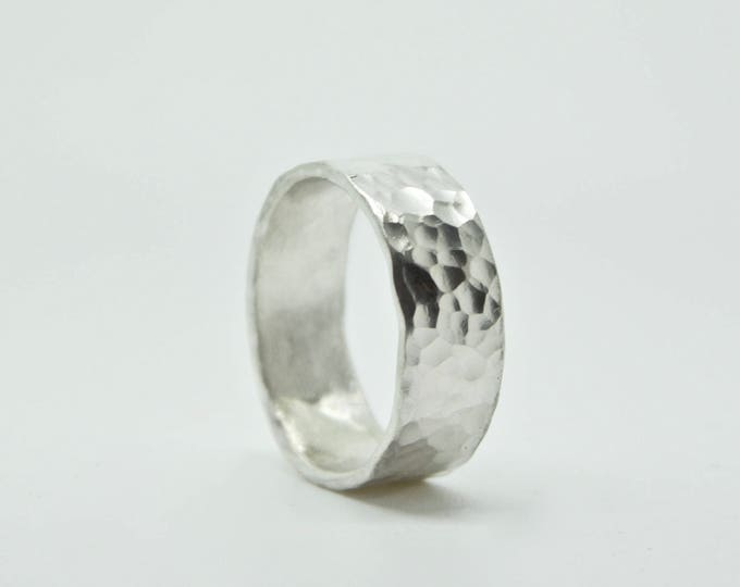 Sterling Silver Hammered Ring