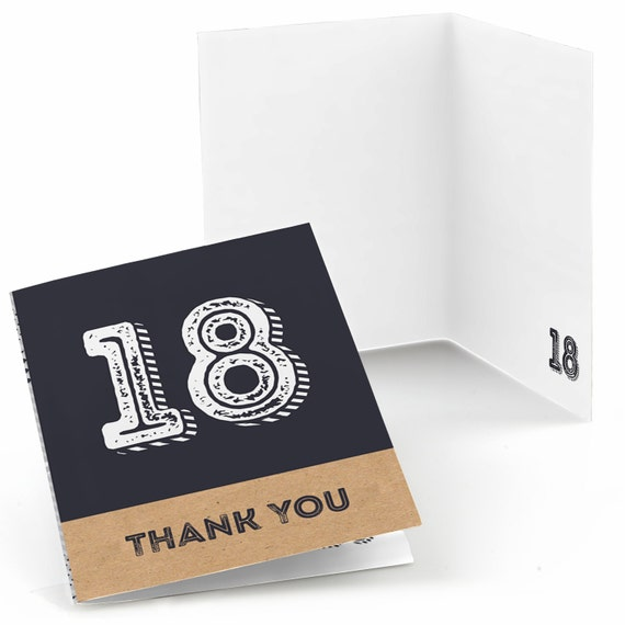 18th Birthday Thank You Cards Aged To Perfection Thank You Cards