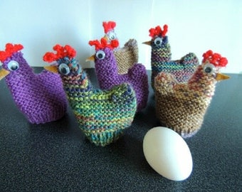 Funky Chicken Egg Cosy Set of 6