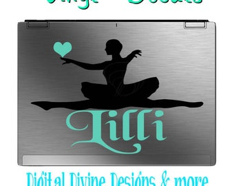 Personalized Ballet Dancer Vinyl Decal (2002b)