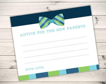 Printable Little Man Baby Shower | New Parents Advice Cards  | INSTANT DOWNLOAD | DIY Baby Shower