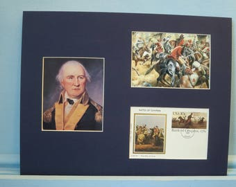 The American Revolution - Daniel Morgan at The Battle of Cowpens & First day Cover of the stamp issued on its 200th Anniversary