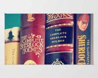 Library of Sherlock Rug: home decor, brown, books, librarian