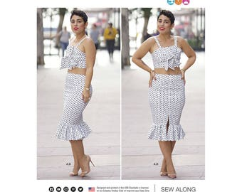 Simplicity Sewing Pattern 8394 Misses' Top and Skirt