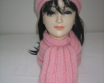 All headband and scarf wool mohair and acrylic