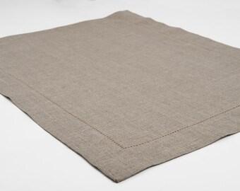 LINEN PLACEMATS - table placemats - table mats set - placemats set - dinner placemats - fabric placemats - cloth placemats