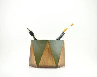 Wooden Pencil Cup, Pencil Holder, Desk Accessory, Office Accessory, Wooden Brush Cup, Pen Cup, Wooden Cup