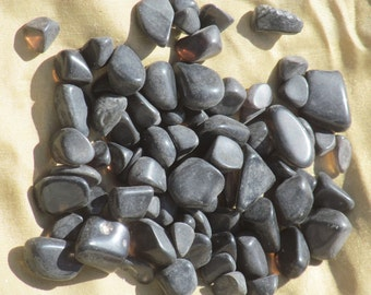 POLISHED APACHE TEARS, Obsidian Nodules Arizona, 1/2 lb., for Wire Wrap, Jewelry Making, Cabochons, Stone Setting