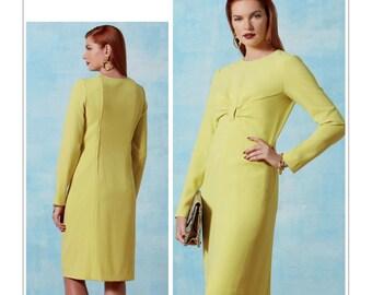 Vogue Pattern V9223 Misses' Gathered Front-Detail Dress
