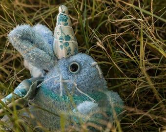 Rabbit Unicorn Plush-Rabbit Plush-Unicorn Plush-Rabbit-Unicorn-Blue-sock plush