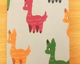 Cute llama A6 notepad - Stationery
