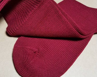 Burgundy Heavy Winter Weight Boot Over the Calf Socks