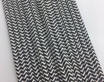 Black Chevron Paper Straws 25PC