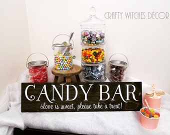 Candy Bar Wedding Sign, Shabby Chic Candy Bar Wedding, Love Is Sweet, Please Take A Treat, Rustic Candy Bar Sign, Candy Bar Sign