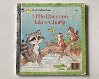 A Big Little Golden Book - Little Raccoon Takes Charge - 1986
