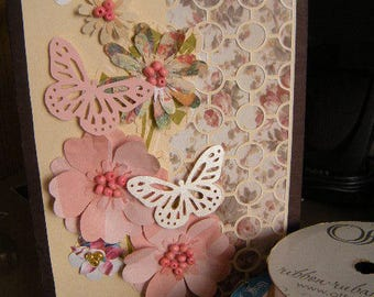 5x7 Honeycone Flowers and Butterflies