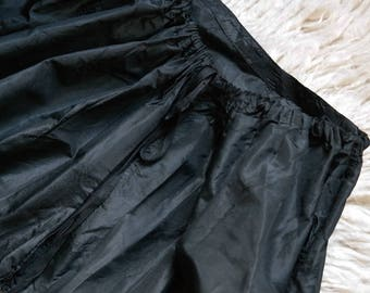 Victorian black silk petticoat