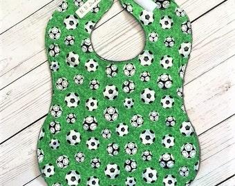 Full Coverage Baby Bib/ Burp Cloth- Soccer Ball