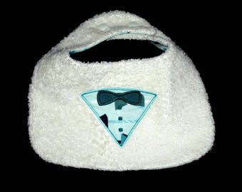 applied bib suit for a baby boy