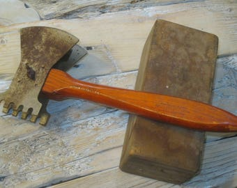 Antique Kitchen Meat Tenderizer , Meat Chopper , Meat Cleaver , Meat Hatchet , Chef's Tool