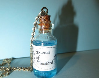 SALE! Essence of Time Lord Bottle Necklace