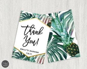 Aloha Tropical Palm Favor Tags   2x3