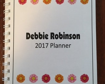 2018 Personal Yearly Planner - Colorful Daisy Theme