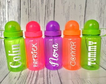 One Plastic Water Bottle, Personalized Kids Water Bottle, Personalized Kids Cup, Kids Party Cups, Party Favor Cups, Plastic cup, Birthday