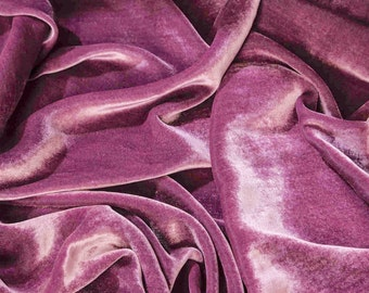 20% OFF Mauve Purple Velvet Fabric Dress Stretchable velvet Commercial Fabric Curtain Fabric Fashion Velvet Upholstery Decorative Fabric