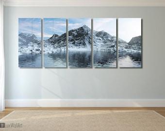Mountain Wall Art Metal Print Decor Ready to Hang