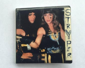 Stryper Original 1980s Vintage Dead Stock Square Pin