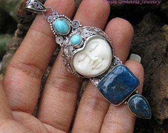 New Model Chrysocolla & Turquoise NAYA Goddess Pendant NG-1319