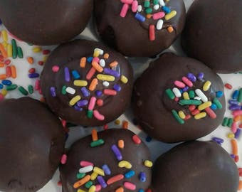 Cookie Dough Truffles, Cookie Dough Balls, Chocolate Covered Cookie Dough Truffles