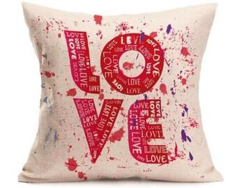 LOVE Splashes - Pillow Cover