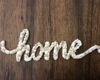 Sea Shell HOME sign