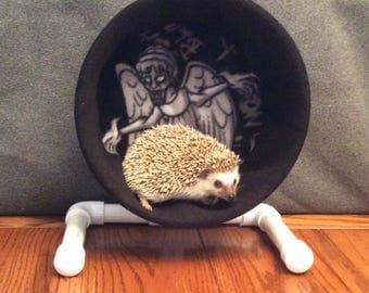 Wheel Cover, Weeping Angel, Don't Blink, Doctor Who, with Waterproof back, for Hedgehogs, Rats, and other Small Animals