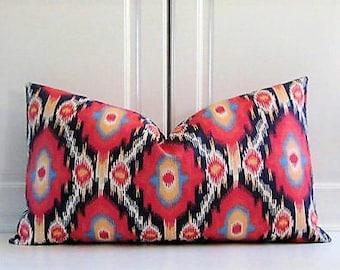 Thibaut Decorative Pillow Cover- Sunrise Orange-13x23 Lumbar