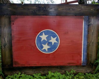 Framed Tennessee Flag