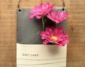 Gratitude Wall Vase. Handmade ceramic flower vase. Thank you gift. Valentine Gift. Everyday Inspiration. IN STOCK