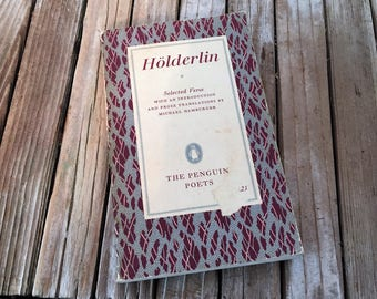 "Vintage Book Titled "" Holderlin"" ""Selected Verse"""