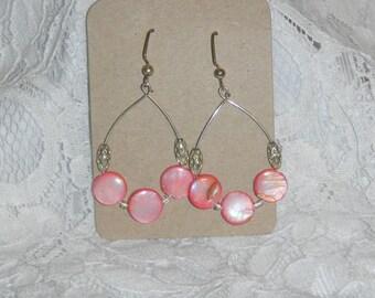 Pretty Peach Teardrop Earrings