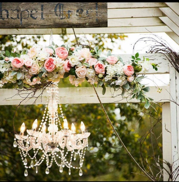 Wedding Arch Coral Flowers Arbor